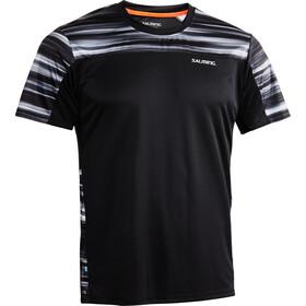 Salming Motion - T-shirt course à pied Homme - gris/noir